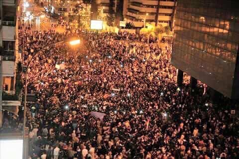 Turkish people protesting against the coup