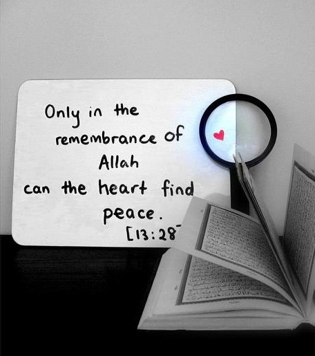 Hearts peace Allah