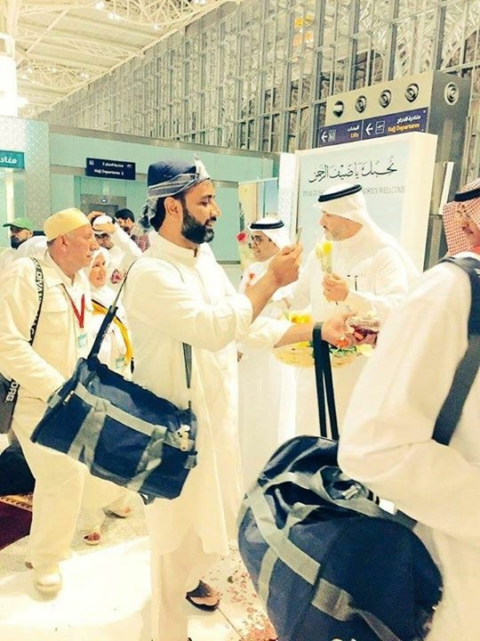 Saudi management were applying perfume to the men
