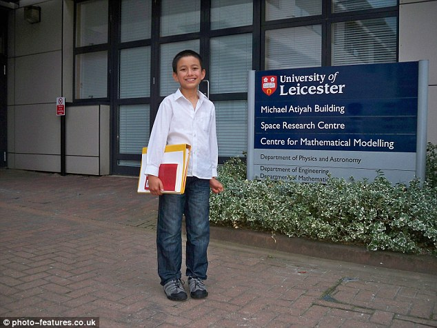 14-year-old Muslim boy dubbed 'the human calculator' becomes a British university's youngest employee teaching adults maths